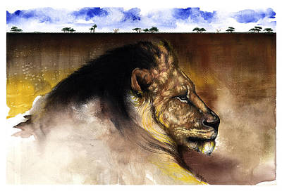 Mixed Media - The King by Anthony Burks Sr