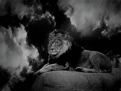 Digital Art - The King Bw by Ernie Echols