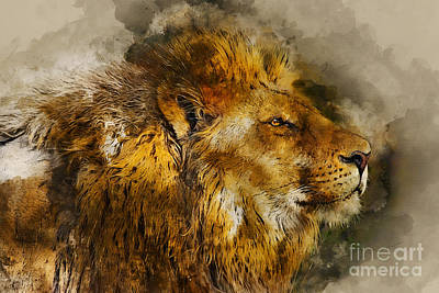 Mixed Media - The King by Ian Mitchell