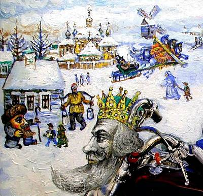 Painting - The King In A Winter Fantasy by Ari Roussimoff