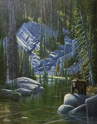 Painting - The King Of Cook's Lake by Paul K Hill