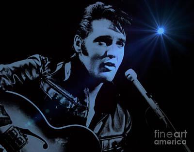 Elvis Aaron Presley Photograph - The King Rocks On by Al Bourassa