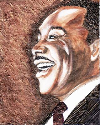 Keenya Woods Painting - The King Smiles by Keenya  Woods