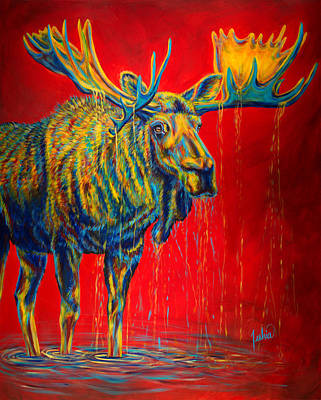 Bull Painting - The King by Teshia Art