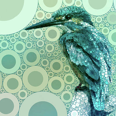 Mixed Media - The Kingfisher by Susan Maxwell Schmidt