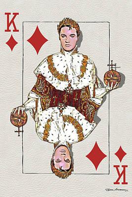 Digital Art - The Kings - Elvis Presley by Serge Averbukh