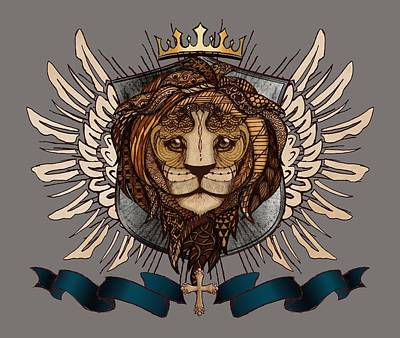 The King's Heraldry II Art Print by April Moen