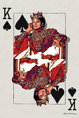 Digital Art - The Kings - Michael Jackson by Serge Averbukh