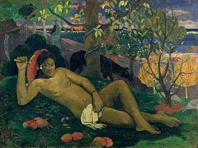 The Kings Painting - The Kings Wife by Paul Gauguin