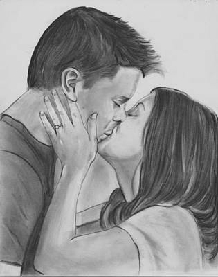 Drawing - The Kiss by Barb Baker