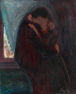 Norwegian Painting - The Kiss by Edvard Munch