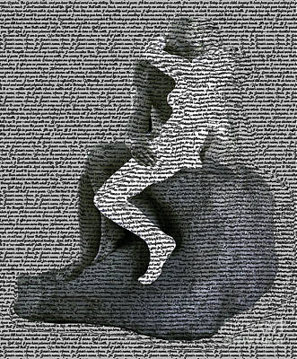 Digital Art - The Kiss by Fei A