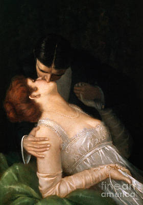 Painting - The Kiss by G Baldry