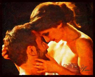 Painting - The Kiss by Joan Reese