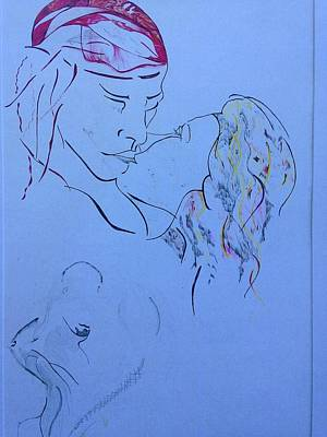 Painting - The Kiss by Contemporary Michael Angelo