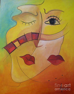 Peaple Painting - The Kiss by Nicola Quici