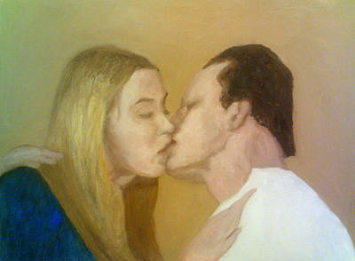 Painting - The Kiss by Peter Gartner