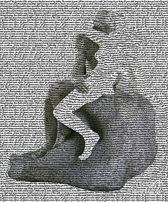 Digital Art - The Kiss Version 2 by Fei Alexander