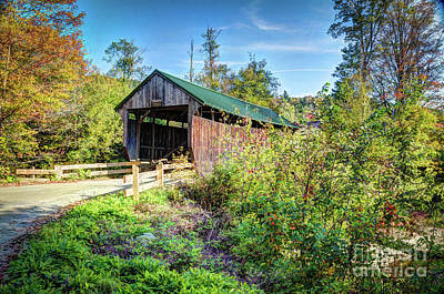 Photograph - The Kissing Covered Bridge by Deborah Klubertanz