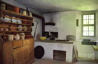 Photograph - The Kitchen Of The Hueginhaus by Michelle Meenawong