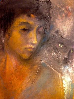 The Kitty And Her Muse Art Print by Paul Birchak