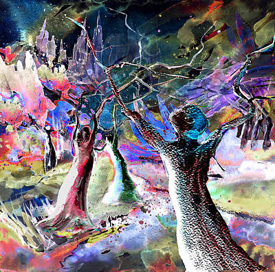 Fantasy Tree Mixed Media - The Klan by Miki De Goodaboom