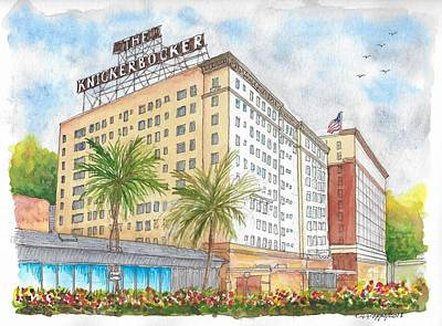 Painting - The Knickerbocker Hotel In Hollywood, California by Carlos G Groppa