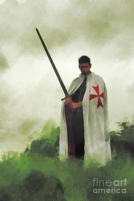 Fantasy Royalty-Free and Rights-Managed Images - The Knight Templar by Esoterica Art Agency