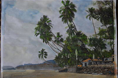 The Konkan Coastline Art Print