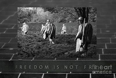 Photograph - The Korean War Memorial by E B Schmidt