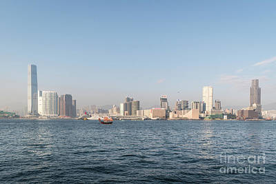 Photograph - The Kowloon Skyline In Hong Kong by Didier Marti