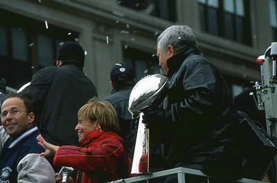 Photograph - The Kraft Family With The Super Bowl by Mike Martin
