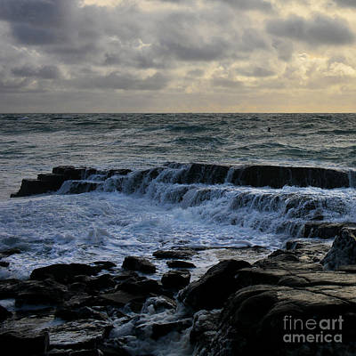 Photograph - The Labouring Of Waves. 2 by Paul Davenport