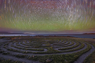 Startrails Photograph - The Labyrinth And The Universe by Todd Kawasaki