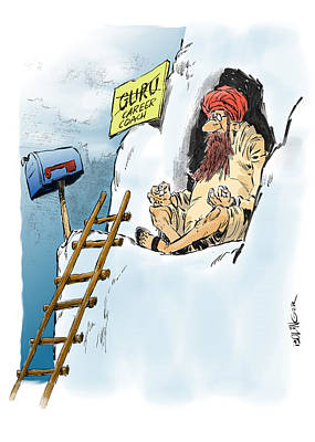 The Ladder To Success. Art Print by Bruce Bolinger