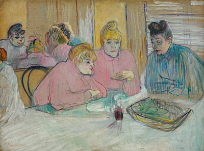 Painting - The Ladies In The Dining Room by Henri de Toulouse-Lautrec