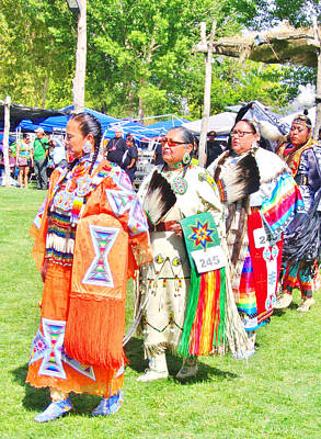 Photograph - The Ladies Of The Pow-wow by Marilyn Diaz