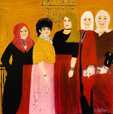 The Ladies Art Print by Shelia Gallaher Chancey