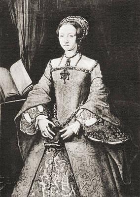 The Lady Elizabeth, Aged Thirteen Print by Vintage Design Pics