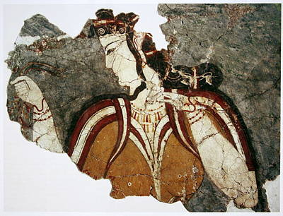 Lady Painting - The Lady From Mycenae by Celestial Images