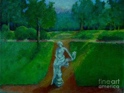 The Lady In The Park     Copyrighted Art Print by Kathleen Hoekstra