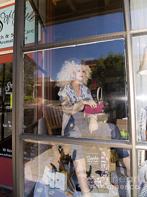 Photograph - The Lady In The Window Petaluma California Usa Dsc3773 by Wingsdomain Art and Photography