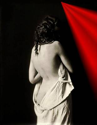 Photograph - The Lady Near Red by Allen Beilschmidt