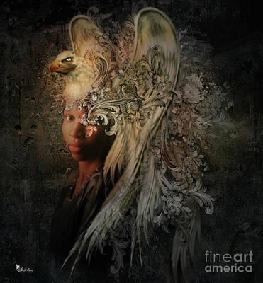 Digital Art - The Golden Griffin by Ali Oppy