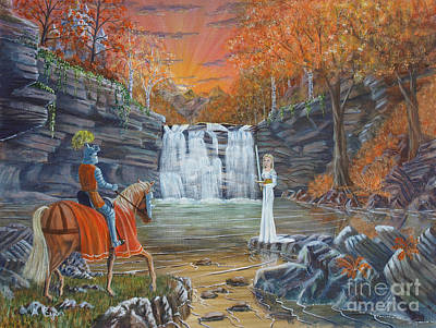 Legends Of The Fall Painting - The Lady Of The Lake by Anthony Lyon