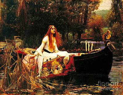 Painting - The Lady Of The Shalot by Pg Reproductions