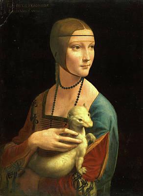 Da Vinci Painting - The Lady With An Ermine, Cecilia Gallerani by Leonardo da Vinci