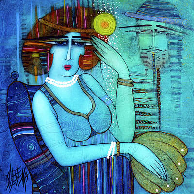 Painting - The Lady With Pearls by Albena Vatcheva