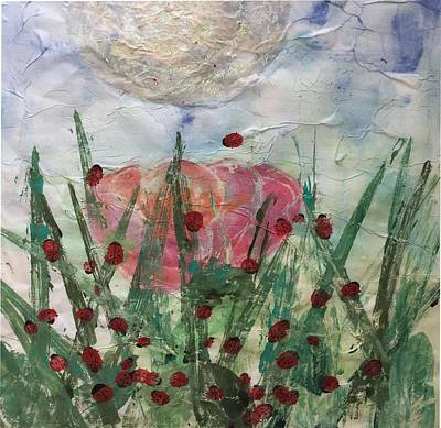 Dance Mixed Media - The Ladybugs Dance Party by Suze Moll