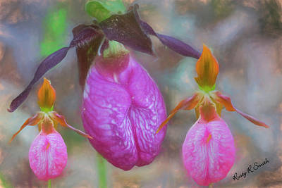 Digital Art - The Ladyslipper Family. by Rusty R Smith